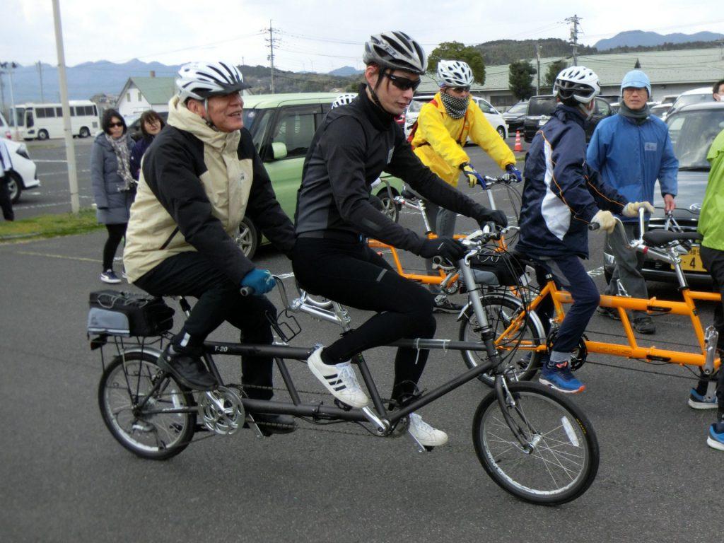 令和元年2月タンデム自転車走行会(湖遊館から出発)の写真