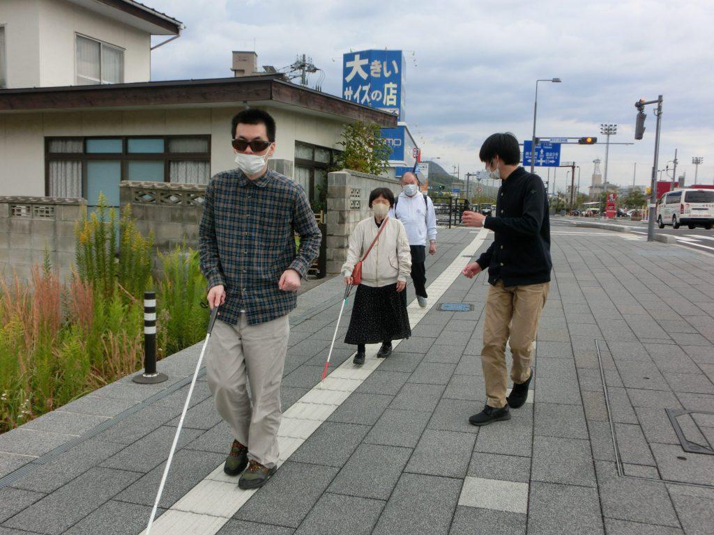 歩道に出て実際に歩行してみる②